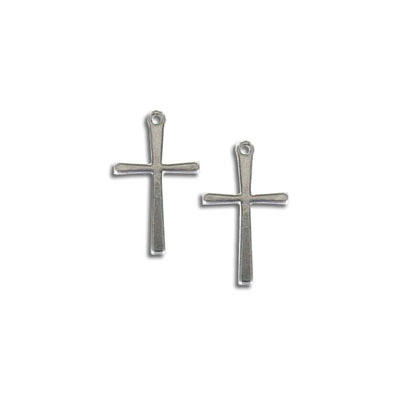 Cross pendant, 15mm, stainless steel