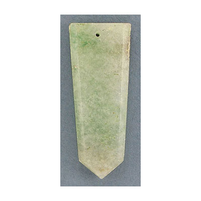 Gemstone pendant, flat point, approx. size 25-30mm x 40-45mm, green jade