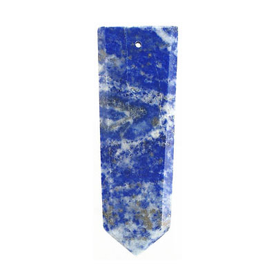 Gemstone pendant, flat point, approx. size 25-30mm x 40-45mm, lapis lazuli