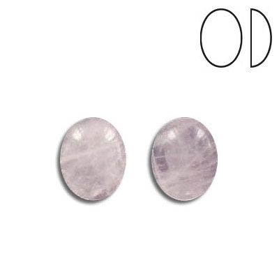 Cabochon semi-precious, rose quartz, oval, 10x8mm