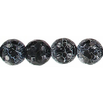 Semi-precious faceted beads, 10mm, approx. hole size 1-1.20mm, antique black agate, 16 inch strand