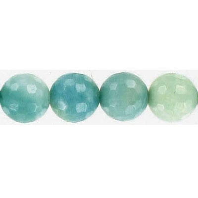 Semi-precious faceted beads, 10mm amazonite , 16 inch strand