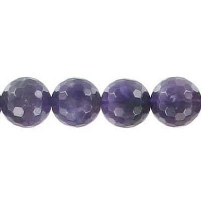 Semi-precious faceted beads, 16 inch, amethyst