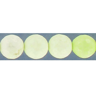 Semi-precious faceted beads, 10mm, round, chrysoprase, 16 inch strand
