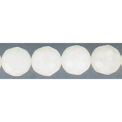 Semi-precious faceted beads, 10mm, approx. hole size 1-1.20mm, white quartz, 16 inch strand