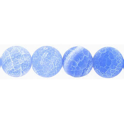 Semi-precious round beads, 16 strand, antique blue agate, 10mm
