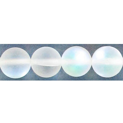 Semi-precious round beads, 10mm, moonstone, matte, synthetic, 16 inch strand