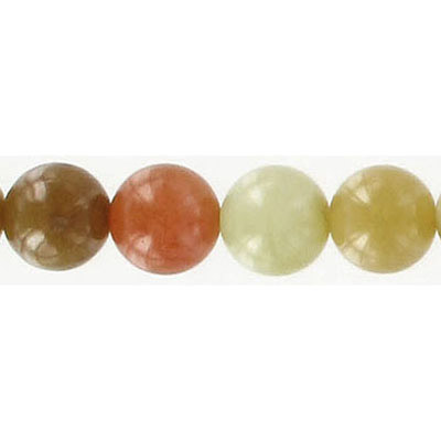 Semi-precious round beads, 10mm, soo chow jade, hole size 0.80mm, 16 inch strand