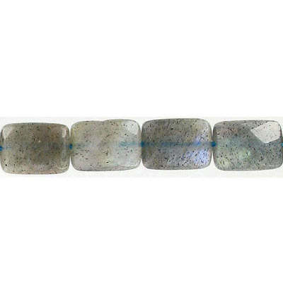 Semi-precious faceted beads, 10x14mm, rectangle, labradorite, 16 inch strand