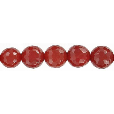 Semi-precious faceted beads, 16, cornelian