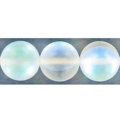 Semi-precious round beads, 12mm, moonstone, matte, synthetic, 16 inch strand