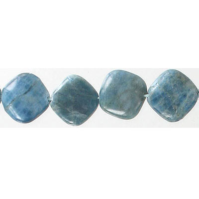 Semi-precious beads, 14mm, diamond shape, apatite, 16 inch strand