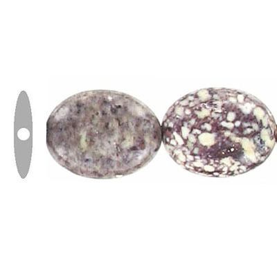 Semi-precious beads, 16x12mm oval, viper stone