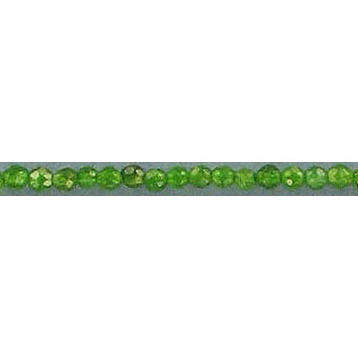 Semi-precious faceted beads, 2mm, green jade (candy), 16 inch strand