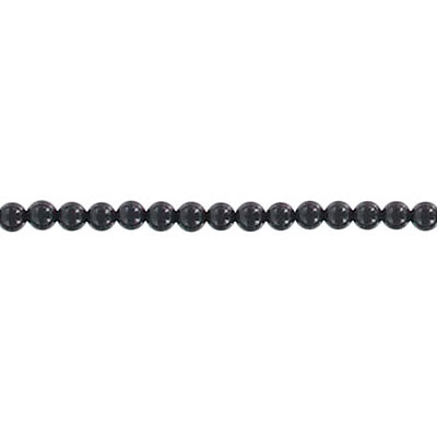 Semi-precious round beads, 16 strand, black onyx, 2mm