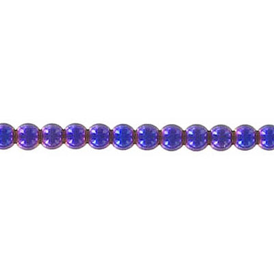Semi-precious round beads, 3mm, purple hematite, 16 inch strand