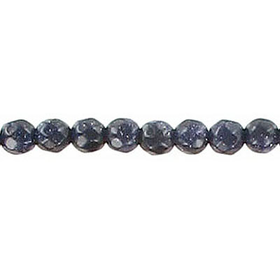 Semi-precious faceted beads, 4mm, blue goldstone, 16 inch strand