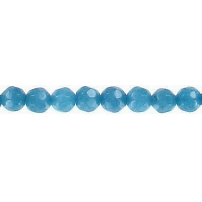Semi-precious faceted beads, 4mm, cobalt blue jade, 16 inch strand