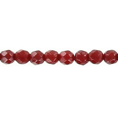 Semi-precious faceted beads, 4mm, cornelian, 16 inch strand