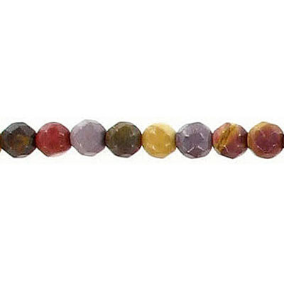 Semi-precious faceted beads, 4mm, mookite, 16 inch strand