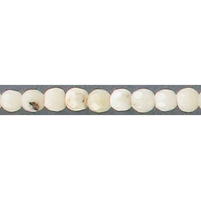Semi-precious faceted beads, 4mm, white opal, 16 inch strand