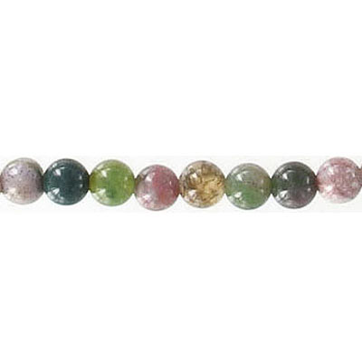 Semi-precious round beads, 16 strand, fancy jasper, 4mm