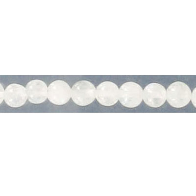 Semi-precious round beads, 16 strand, moonstone, 4mm