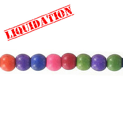 Semi-precious beads, mixed shapes, multi-color howlite, 16 inch strand