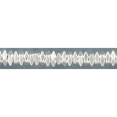 Semi-precious faceted beads, 4x4mm, flat square, extra electroplate, silver hematite, approx. hole size 0.80-1mm, 16 inc