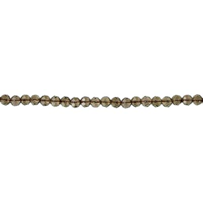 Semi-precious faceted beads, 16 inch, smoky quartz