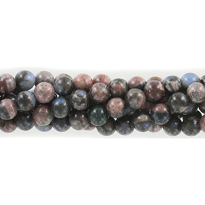 Semi-precious round beads, 6mm, boulder opal, approx. hole size 1mm, 16 inch strand