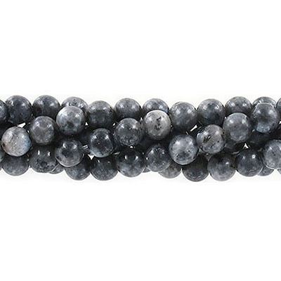 Semi-precious round beads, 6mm, Chinese labradorite, approx. hole size 1mm, 16 inch strand
