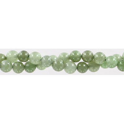 Semi-precious round beads, 6mm, Chinese nephrite jade, approx. hole size 1mm, 16 inch strand