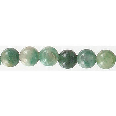 Semi-precious round beads, 6mm, african jade, green, 16 inch strand