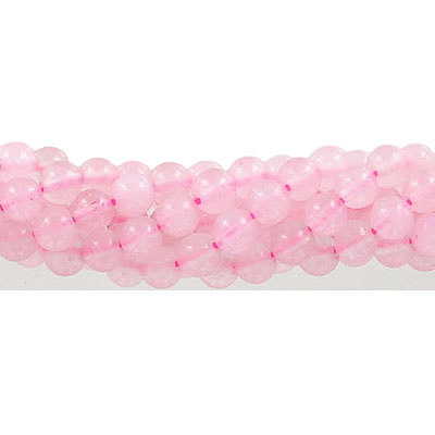 Semi-precious round beads, 6mm, light pink jade (candy), approx. hole size 1mm, 16 inch strand