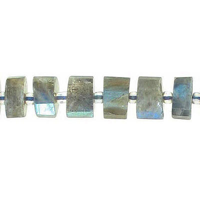 Semi-precious faceted beads, 8-10mm, parallel faceted rondelle, labradorite, hole size approx. 1mm, 16 inch strand