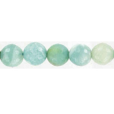 Semi-precious faceted beads, 8mm amazonite , 16 inch strand