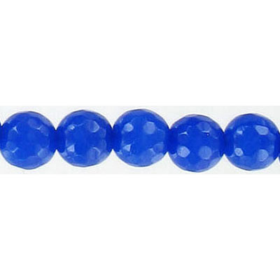 Semi-precious faceted beads, 8mm, blue new jade, 16 inch strand