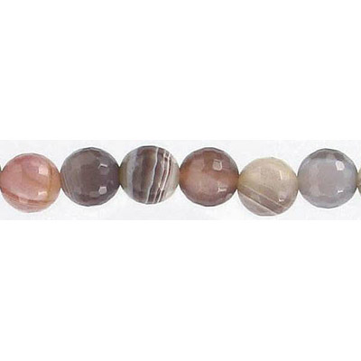 Semi-precious faceted beads, 16 inch, Botswana agate