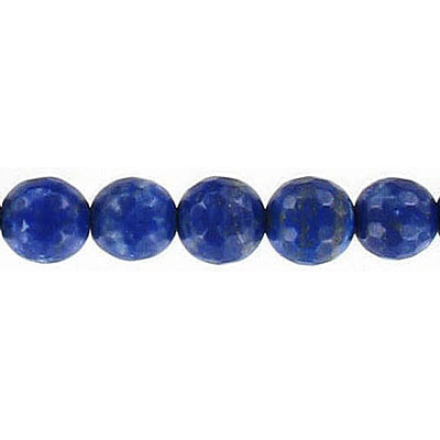 Semi-precious faceted beads, 8mm, lapis lazuli, 16 inch strand