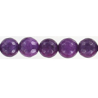 Semi-precious faceted beads,8mm, purple haze jade, 16 inch strand