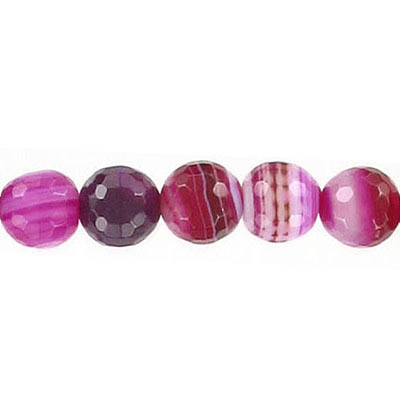 Semi-precious faceted beads, 16, pink agate