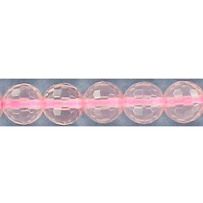 Semi-precious faceted beads, 16, rose quartz