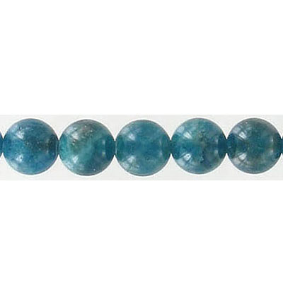 Semi-precious round beads, 8mm, hole size approx. 1.00-1.20mm, apatite, 16 inch strand