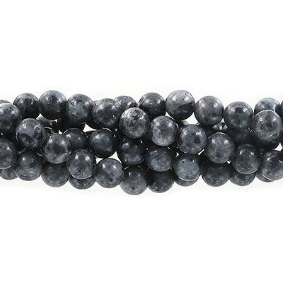 Semi-precious round beads, 8mm, Chinese labradorite, approx. hole size 1-1.20mm, 16 inch strand