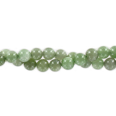 Semi-precious round beads, 8mm, Chinese nephrite jade, approx. hole size 1-1.20mm, 16 inch strand