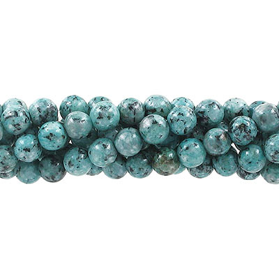 Semi-precious round beads, 8mm, green fire jade (candy), approx. hole size 1-1.20mm, 16 inch strand