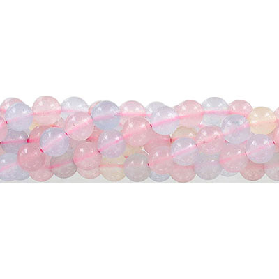 Semi-precious round beads, 8mm, light multi color jade (candy), approx. hole size 1-1.20mm, 16 inch strand