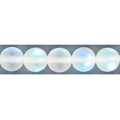 Semi-precious round beads, 8mm, moonstone, matte, synthetic, 16 inch strand