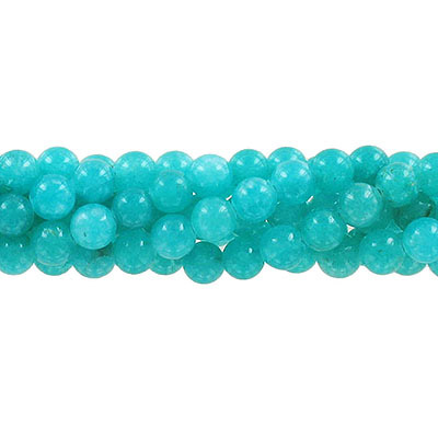 Semi-precious round beads, 8mm, mint green jade (candy), approx. hole size 1-1.20mm 16 inch strand